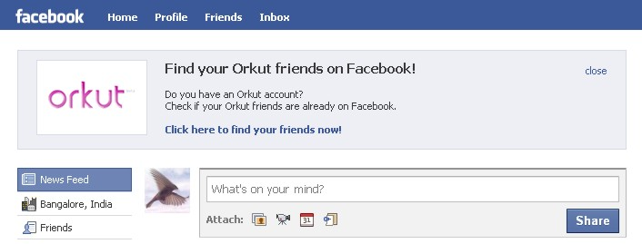 Facebook is luring users away from Orkut